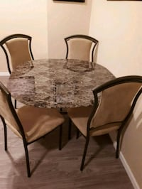 Marble table and chair set Winnipeg