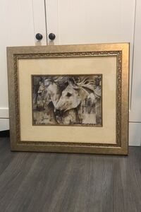Picture framed painting horses wall art Toronto, M3N 2W5