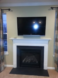 Fireplace mantel and side...white in pic Triadelphia, 26059