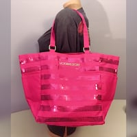 New Victoria's Secret pink bling canvas bag tote shopper Cambridge, 02139