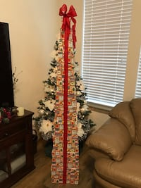 """12 Nesting Christmas Boxes & Beautuful Ribbon  3.5 to 12"""" Impressive 6' Tall Gift Tower! FAST & EASY: NO WRAPPING! Maple Valley, 98038"""
