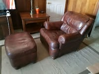 brown leather tufted sofa chair Springfield, 22150