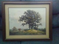 green tall tree near horse painting with frame Caddo Mills, 75135