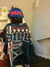 blue and red Bills fitted cap