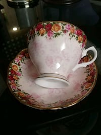 Vintage cup and saucer, England Laval, H7G 1G2