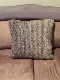 Brown Wool & Burlap Pillow Herndon, 20171