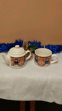 Snowman single serve teapot & mug set  Kitchener, N2G 4X6