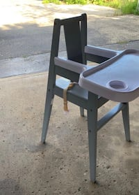 Wood high chair made by Zoboo