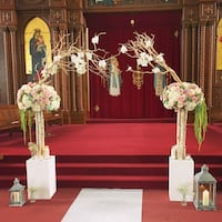 Rental - Manzanita arch with silk flowers