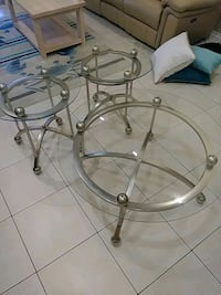 Glass coffee table with matching end tables Brooksville, 34601