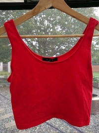 red scoop-neck tank top Nanaimo, V9R 1S4