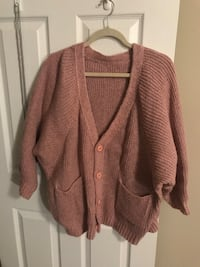 Gray pink knit cardigan (size L) 伦敦, N6G 1G5
