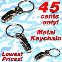 Metal Keychains with Carabiner clip and Key ring *2019 Clearance Sale! Lowest Discount Prices!* Singapore
