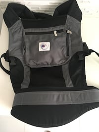 Baby's black and gray carrier Ergo baby front carrier