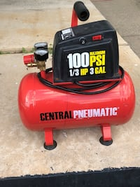 red and black Central Pneumatic air compressor Glenolden, 19036
