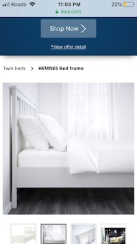 White ikea twin bed frame
