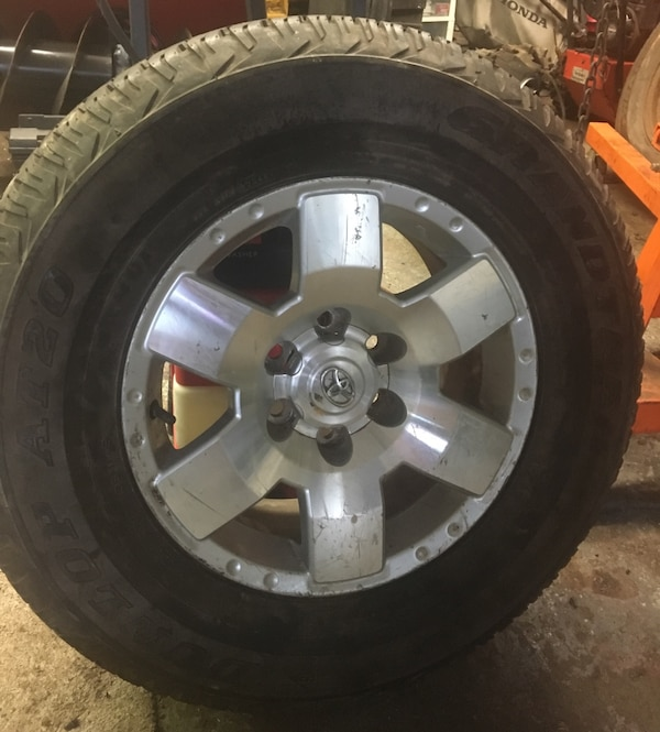 b456f73a7f7 Used 4 17x17.5 Toyota FJ Cruiser 2007-2010 OEM Factory original Alloy Wheel  Rims  69503 (tires included)     300 if interested in wheels only   for  sale in ...