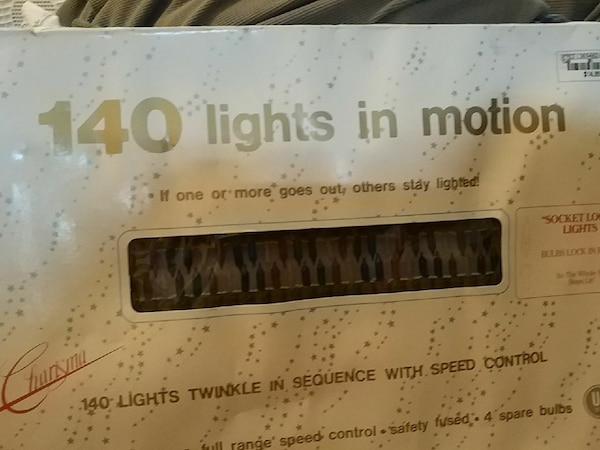 Used Christmas Lights Never Been Out Of The Box For Sale In Houston