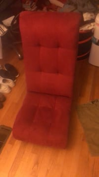 Red fabric padded sofa chair Chicago, 60656