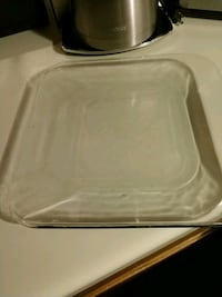 Free w/ purchase Heavy clear glass plate