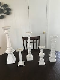 Candle stick holders and rings