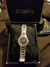 Bulova stainless steel ladies watch Sworvoski