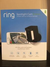 Ring Spotlight Camera 1080p Outdoor Wi-Fi Camera Burke