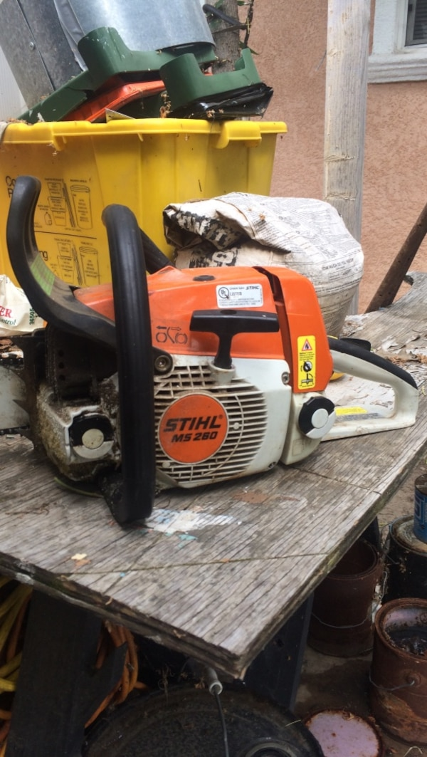 Prächtig Used orange and white STIHL MS 280 chainsaw for sale in San Jose @OS_64