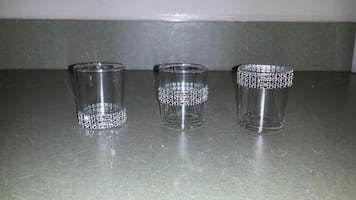 Decorative Votives with Rhinestone Trimming