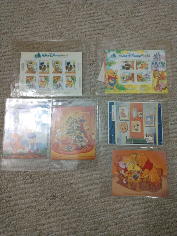 Vintage Winnie the Pooh Stamps and Postcards