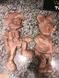 """Mickey Mouse / Pinocchio wood figures 18"""" tall Gaithersburg, 20878"""