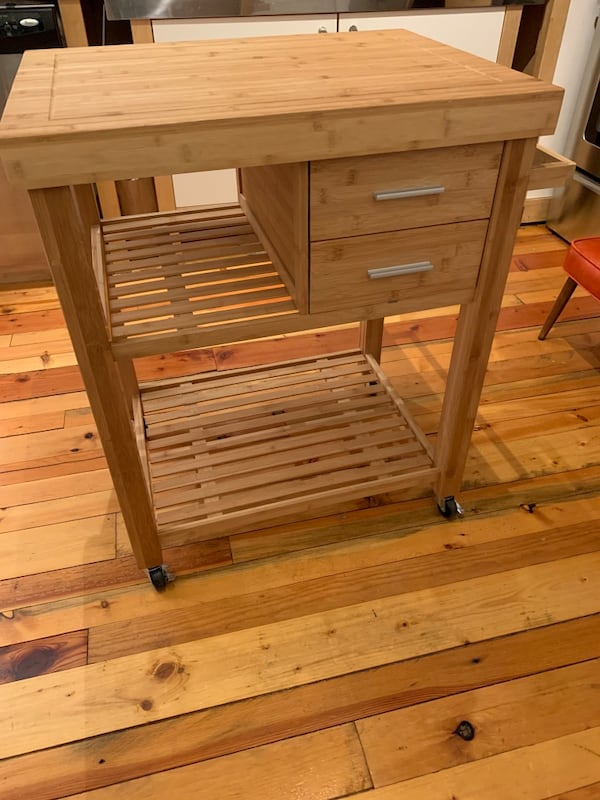 Used Bamboo Kitchen Island Cart For Sale In Washington Letgo