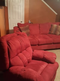 red suede living room set Greer, 29651