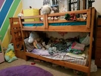 brown real wood bunk bed Spring Hill, 34609