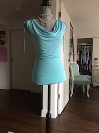 Baby blue tank top New Tower USA