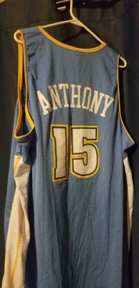 3XL Stitched Carmelo Anthony blue Nuggets jersey