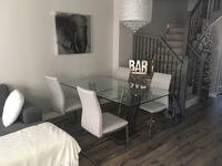 Glass Dining Table with 4 Chairs Whitby, L1R 3M4