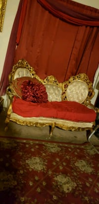 Victorian  style  sofa. and loveseat