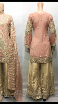 brown and gray floral long-sleeved dress Toronto, M1L 0H4