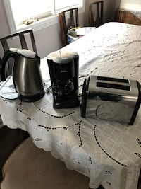 Small appliances. Kettle, coffee maker, toaster  Vaughan, L4J 8B4