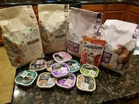assorted-brand of pet food pack lot