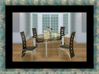 Glass dining table with 4 chairs 42 km