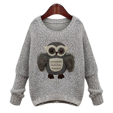 Cute owl sweater for women