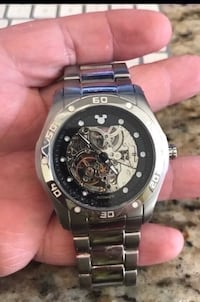 Men's Mickey Mouse Disney watch.  Officially licensed and bought at Disneyland 10 years ago.  Only worn 3 times.  Really nice movement.  Bought for $436.  Surprise the Disney collector in your family with this gift..   Fullerton, 92831