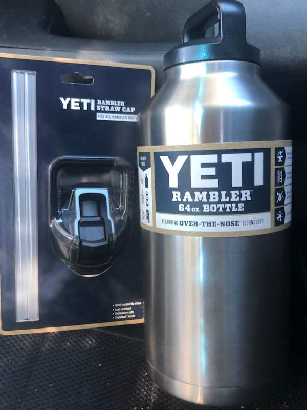Used Yeti Rambler 64oz With Straw Cap For Sale In Foster City Letgo