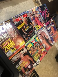WWE / WWF & WCW vintage wrestling magazines from 1998-2000 Merrillville, 46410