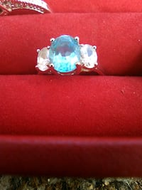 silver and blue gemstone ring Lake Charles, 70615