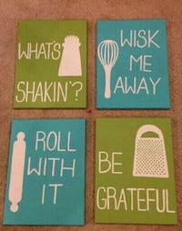 Funny kitchen paintings-see info* Milton, L9T 4T3
