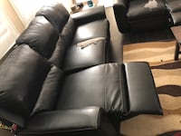 black leather 2-seat sofa Canyon Country, 91387