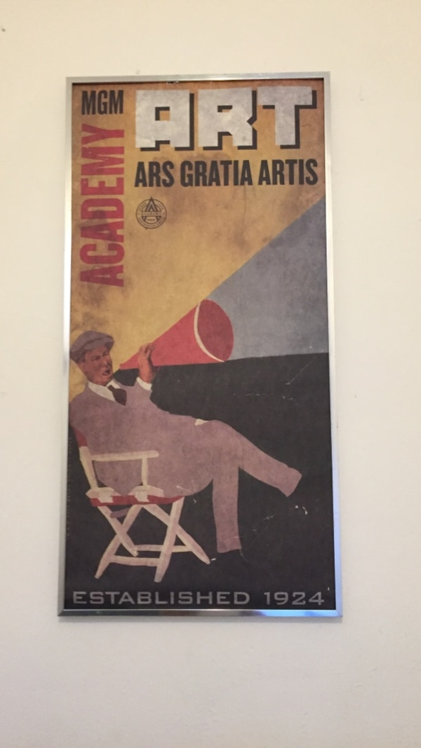 used mgm academy art ars gratia artis poster for sale in los angeles
